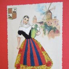 Postales: POSTAL BORDADA , TRAJE REGIONAL TIPICO PALMA DE MALLORCA , BALEARES - AÑOS 60. Lote 30174135