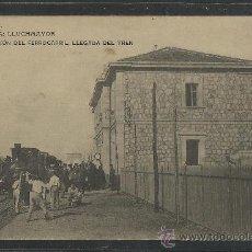 Postales: MALLORCA - LLUCHMAJOR - ESTACION DEL FERROCARRIL . LLEGADA DEL TREN - (8651). Lote 30257211