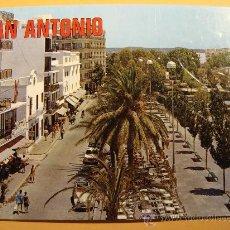 Cartes Postales: POSTAL DE IBIZA, ISLAS BALEARES. AÑO 1975. SAN ANTONIO ABAD, CALLE MIRAMAR Y PASEO. 879. . Lote 30500133