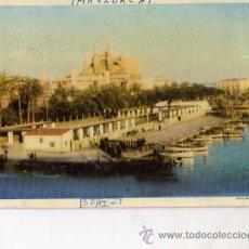 Postales: MALLORCA Nº 9 PASEO MARÍTIMO Y CATEDRAL CLICHÉ IMPRENTA PALMESANA ESCRITA CIRCULADA SIN SELLO. Lote 30596682