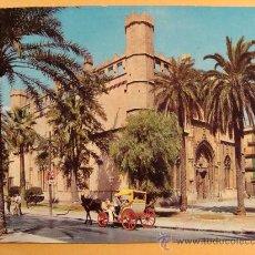 Postales - POSTAL DE PALMA MALLORCA, ISLAS BALEARES. AÑOS 50. LONJA, COCHE CABALLOS. 310. - 30648620