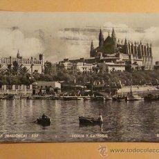 Postales: POSTAL DE PALMA MALLORCA, ISLAS BALEARES. AÑOS 40 - 50. LONJA Y CATEDRAL. ROTGER. 343. . Lote 30649536