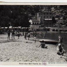 Postales: POSTAL DE SOLLER (MALLORCA) - HOTEL MAR BELL Y PUERTO - AMBIENTADA - FOTO TRUYOL. Lote 30948906