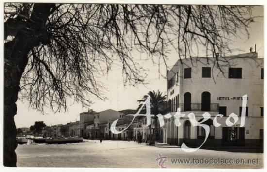 BONITA POSTAL - POLLENSA (MALLORCA) - VISTA PARCIAL DEL PUERTO - HOTEL PUERTO (Postales - España - Baleares Moderna (desde 1.940))