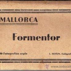 Postales: 10 FOTOGRAFÍAS SEPIA - FORMENTOR - MALLORCA - L. ROISIN . Lote 31709245