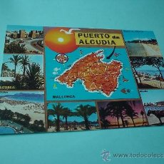 Postales: ANTIGUA POSTAL DE IMÁGENES DE MALLORCA. PUERTO DE ALCUDIA. ISLAS BALEARES.. Lote 31561390