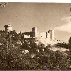Postales: BALEARES, MALLORCA, CASTILLO DE BELLVER, CASA PLANA, POSTAL ANTIGUA. Lote 31592804