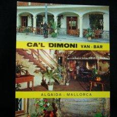 Postales: POSTAL VAN- BAR CA'L DIMONI. ALGAIDA. MALLORCA. ED. GRÁFICAS BAUZA. BALEARES. . Lote 31717854