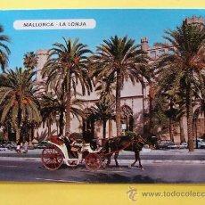 Postales: POSTAL DE PALMA DE MALLORCA, ISLAS BALEARES. AÑO 1968. LA LONJA, CARRO CABALLOS. 1046. . Lote 32020636