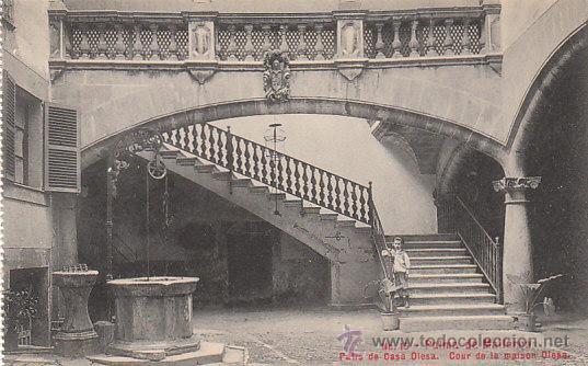 PALMA DE MALLORCA, PATIO DE CASA OLESA, EDITOR: AM Nº 15 (Postales - España - Baleares Antigua (hasta 1939))