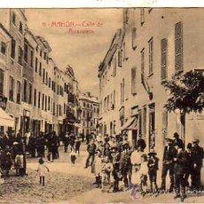 Postales: MAHON. MENORCA. 11. CALLE DE ARRAVALETA. MUY ANIMADA. EDITOR JOSE PONS. FOTO GARRIGA.. Lote 32212733