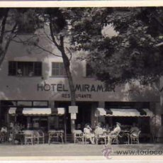 Postales: SOLLER. MALLORCA. PUERTO HOTEL MIRAMAR. FOTO BALEAR. CIRCULADA. . Lote 32242435