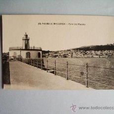 Postales: 1910C.- FARO DEL PUERTO . PALMA DE MALLORCA. BALEARES. POSTAL. Lote 32380788