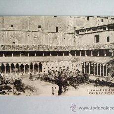 Postales: 1910C.- PATIO DE SAN FRANCISCO . PALMA DE MALLORCA. BALEARES. POSTAL. Lote 32380949