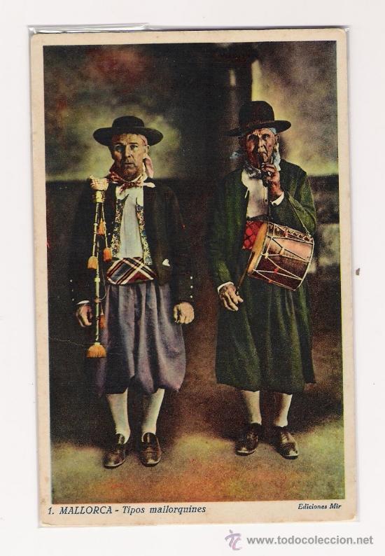 MALLORCA .- TIPOS MALLORQUINES .- PAPELERIA MIR (Postales - España - Baleares Antigua (hasta 1939))