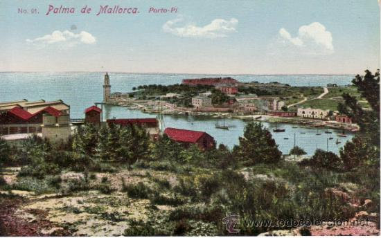 POSTALES. PORTO-PI. PALMA DE MALLORCA. BALEARES. ESPAÑA. RASTRILLO PORTOBELLO. (Postales - España - Baleares Antigua (hasta 1939))