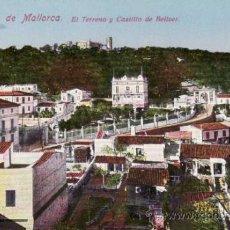 Postales: POSTALES. TERRENO Y CASTILLO BELLVER. PALMA DE MALLORCA. BALEARES. ESPAÑA. RASTRILLO PORTOBELLO.. Lote 32625848