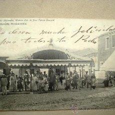 Postales: POSTAL ANTIGUA MENORCA MAHÓN. PESCADERÍA. CIRCULADA EL 27/05/1908. Lote 32658359