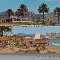 Cartes Postales: POSTAL DE PLAYA D'EN BOSSA, IBIZA, ISLAS BALEARES. AÑO 1970. 1371 . Lote 33094406