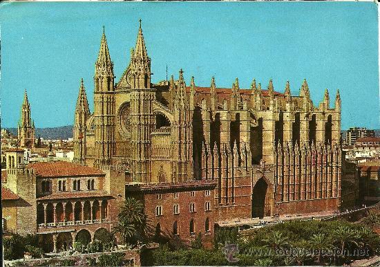 MALLORCA - PALMA. LA CATEDRAL. VISTA AÉREA - PALMA EDICIONES - SIN CIRCULAR (Postales - España - Baleares Moderna (desde 1.940))