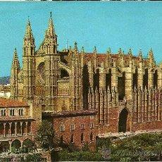Postales: MALLORCA - PALMA. LA CATEDRAL. VISTA AÉREA - PALMA EDICIONES - SIN CIRCULAR. Lote 33136121