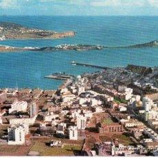 Postales: POSTAL. IBIZA. VISTA DE LA CIUDAD Y BAHÍA, AL FONDO TALAMANCA. ISLAS BALEARES. ESPAÑA. . Lote 33213165