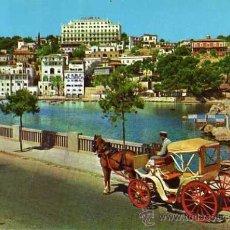 Postales: MALLORCA BALEARES PALMA, PASEO MARÍTIMO CASA PLANAS AÑO 1960 ESCRITA CIRCULADA SELLO. Lote 33570976