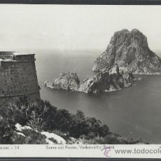Postales: IBIZA - 74 - TORRE DEL PIRATA, VEDRANELL Y VEDRA - FOT. VIÑETS - (11.300). Lote 33711289
