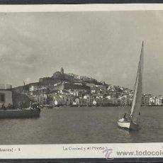 Postales: IBIZA - 4 - LA CIUDAD Y EL PUERTO - FOT. VIÑETS - (11.330). Lote 33711719