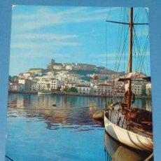 Postales: POSTAL DE IBIZA, ISLAS BALEARES. AÑO 1962. PUERTO, DETALLE. 131. . Lote 33756410