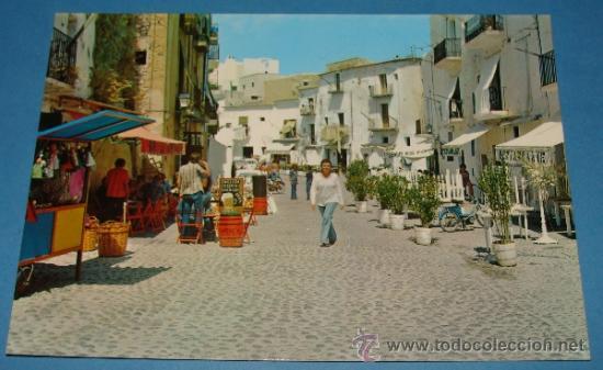 POSTAL DE IBIZA, ISLAS BALEARES. AÑO 1975. CIUDAD ALTA. 676 . (Postales - España - Baleares Moderna (desde 1.940))