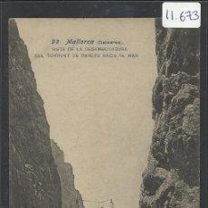 Postales: MALLORCA - 92 - VISTA DE LA DESEMBOCADURA DEL TORRENT DE PAREYS HACIA EL MAR - FOT. LACOSTE (11.673). Lote 34299466