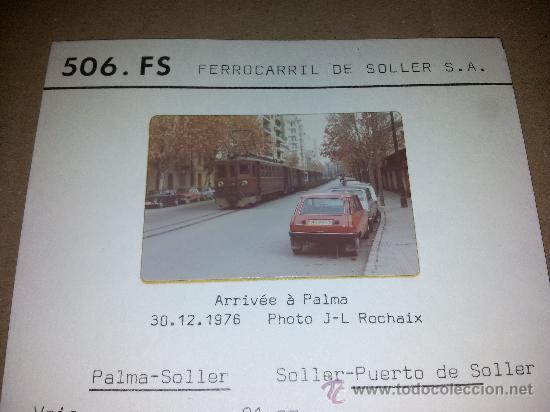 FERROCARRIL DE SOLLER S.A. MALLORCA POSTAL FOTOGRAFICA COL BVA VER DESCRIPCION (Postales - España - Baleares Moderna (desde 1.940))