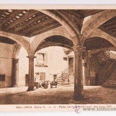 Postales: POSTAL DE MALLORCA SERIE IV Nº4 -PATIO BARROCO- POSTAL VIRADA. Lote 34479445
