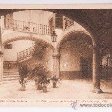 Postales: POSTAL DE MALLORCA SERIE IV Nº 11 -PATIO BARROCO- FOTOGRAFIA VIRADA. Lote 34479563
