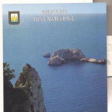 Postales: IBIZA, ACANTILADO ISLAS MARGALIDAS. Lote 34964651