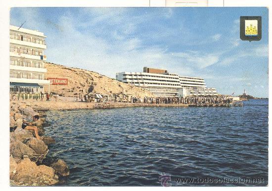 postal de ibiza antiguo embarcadero de talamanca y hotel corso