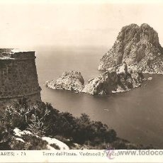 Postales: IBIZA (BALEARES) Nº 74 - TORRE DEL PIRATA. VEDRANELL Y VEDRÁ - VIÑETS - MANUSCRITA SIN CIRCULAR. Lote 34937039