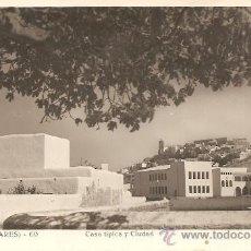 Postales: IBIZA (BALEARES) Nº 60 - CASA TÍPICA Y CIUDAD - VIÑETS - MANUSCRITA SIN CIRCULAR. Lote 34937097