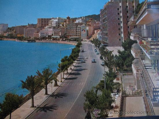 PASEO MARITIMO PALMA DE MALLORCA.AÑOS 60.15X21CM. (Postales - España - Baleares Moderna (desde 1.940))