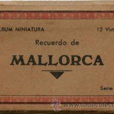 Postales: ÁLBUM-DESPLEGABLE 12 FOTOS ANTIGUAS MALLORCA, SÓLLER, VALLDEMOSA (BLANCO-NEGRO) - SERIE A - AÑOS 60. Lote 35039815