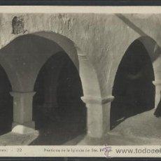 Postales: IBIZA - 22 - PORTICO DE LA IGLESIA DE STA. EULALIA - FOTO VIÑETS - (12.144). Lote 35072655