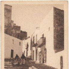 Postales: IBIZA (BALEARES).- UNA CALLE TÍPICA.. Lote 35123884