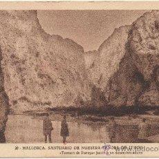 Postales: MALLORCA.- SANTUARIO DE NUESTRA SEÑORA DE LLUCH. ``TORRENT DE PAREYS´´ JUNTO A SU DESEMBOCADURA. . Lote 35191249