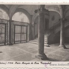Postales: PALMA DE MALLORCA.- PATIO MARQUÉS DE CASA FERRANDELL. (C.1955).- EDICIÓN DE A. ZERKOWITZ, NÚM. 7794.. Lote 35191513