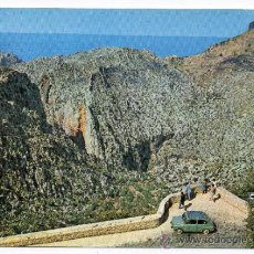 Postales: MALLORCA. TORRENTE DE PAREYS. MIRADOR DE S´ENTREFORC. SEAT 600.. Lote 35279010