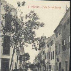 Postales: MAHÓN (MENORCA).- CALLE COS DE GRACIA. Lote 35511738