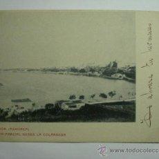 Postales: MAHON MENORCA VISTA DESDE LA COLARSEGA - CIRCULADA EN 1903 - REVERSO SIN DIVIDIR. Lote 35676618