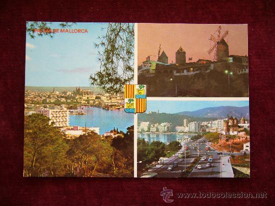 POSTAL 15008. PALMA DE MALLORCA. PASEO MARÍTIMO. AÑO 1981. ICARIA. (Postales - España - Baleares Moderna (desde 1.940))