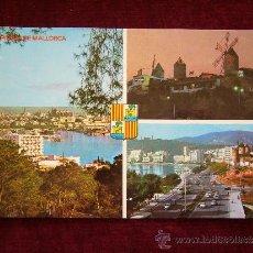 Postales: POSTAL 15008. PALMA DE MALLORCA. PASEO MARÍTIMO. AÑO 1981. ICARIA.. Lote 35779566